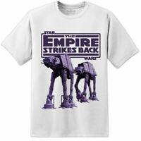 Mens Star Wars Empire Strikes Back AT-AT Movie T Shirt Jedi Rise Skywalker 9 IX