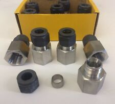 "(x1) Parker CPI Female Connector GBZ 12-1/2 SS Metric 12mm x 1/2"" NPT"