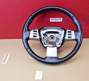 2003-2006 Nissan Murano Steering Wheel w/ Cruise Control OEM 3.5L Black Leather