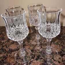 """SET OF 4 CRYSTAL CRISTAL D'ARQUES LONG CHAMP CHAMPAGNE WINE GLASS FRANCE 6 1/2"""""""
