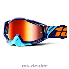 100 % Prozent Racecraft verspiegelt CALCULUS NAVY MX Motocross Cross Brille MTB