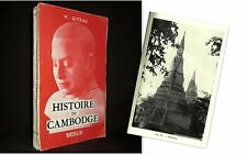 """""""HISTOIRE du CAMBODGE"""" GITEAU Asie Cambodia Kambodscha Angkor Art Khmer 1959 !"""