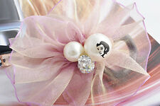 Fashion Jewelry Retro Red Flower Crystal Pearl Hairpin Barrette HairClip