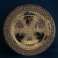 Antique Art Deco 1920/'s Silver Luster Dinner Plate Charger Grays Pottery Hanley