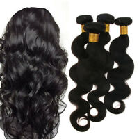 "8A 8""~20"" Brazilian Virgin Hair Curly Human Hair Weaves Weft Extension Black"