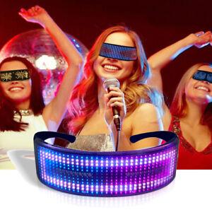 RGB Bluetooth LED Display Smart Glasses APP Control EL Glasses Nightclub Party