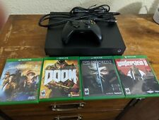 Microsoft Xbox One X 1TB Console, 4 games, official controller, cables