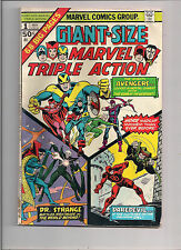 MARVEL TRIPLE ACTION GIANT-SIZE #1 MAY 1975 VG AVENGERS,DR STRANGE,DAREDEVIL