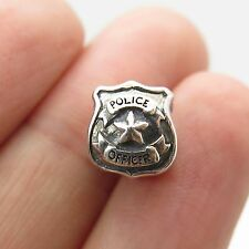 Authentic Chamilia Cham 925 Sterling Silver Police Officer Bead Charm