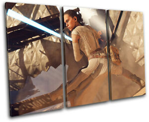 Star Wars Battlefront Rey Gaming TREBLE CANVAS WALL ART Picture Print