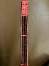 Apple Watch 3 4 5 Strap Bright Crimson Black Nike Woven Sport Loop 42mm 44mm Red