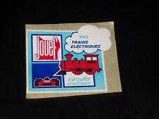 AUTOCOLLANT - JOUEF - TRAINS ELECTRIQUES / CIRCUITS ROUTIERS - ANNEES 1980