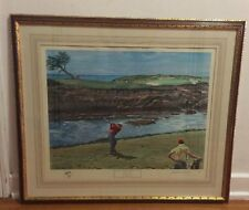 "Arthur Weaver Signed Artist Proof ""View From the 16th Tee Lee Trevino Drives"""