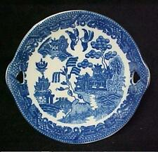 Blue Willow Porcelain Miniature Cake Plate Child's Collectible Oriental New