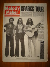MELODY MAKER 1974 AUG 31 SPARKS SPLINTER HARRISON