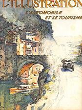 Style Art Déco couleur canot automobile et le tourisme France ILLUSTRATION 1926