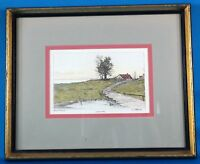 """E Pearle """"River Road"""" Original Etching Signed Ethan Allen Art Collection"""