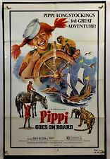 PIPI GOES ON BOARD Movie Poster (Good) One Sheet 1975 Inger Nilsson 1193
