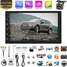 "7"" Android 8.1 Double 2 Din Car Stereo Radio MP5 Player GPS SAT NAV +Rear Camera"