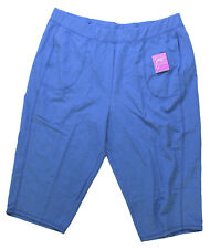 Plus JMS Just My Size French Terry Capri Pants Capris 2X Blink Blue NWT