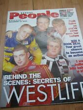 WESTLIFE BEHIND THE SCENES SUNDAY PEOPLE MAG 2001 NICKY BYRNE BIRTHDAY CAPRICE