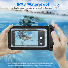 Waterproof Pouch Dry Bag Case Cover For iPhone Android Smartphones Black 5.5inch