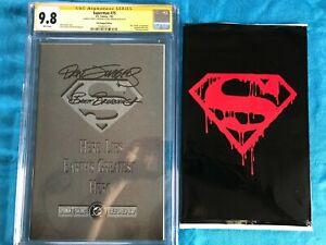 Superman #75 - DC - CGC SS 9.8 NM/MT - Signed by Jurgens, Breeding - Death of