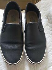 Mens Vans Black Canvas Slip On Skate Shoes. Size 9.5