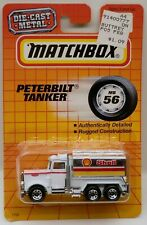 Matchbox Peterbilt Fuel Gasoline Tanker Truck SHELL MOC c.1990 1:80 Scale