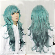 Fashion Long Tokyo Ghoul Eto Sen Takatsuki Green Wavy Cosplay Party Anime Wig