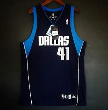 100% Authentic Adidas Dirk Nowitzki Mavericks NBA Jersey Size 44 L