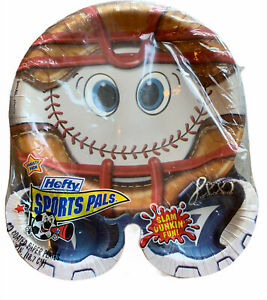 Hefty Sports Pals Paper Plates Baseball Rare Sealed NIP Coated Variety Pack