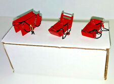 1/87th Trench Bedding & Yard Box (All Metal Set) Mammoet Red. Made In The USA.