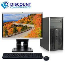 "Fast HP Pro Desktop Computer Windows 10 Core 2 Duo 2.8GHz Tower PC 19"" LCD Wifi"