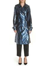MARC JACOBS Women's Waterproof Trench Coat in Blue Size 6 $595