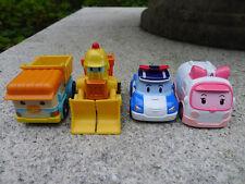 4pcs Silverlit Robocar POLI Metal Diecast Poli/Amber/Dumpu/Burner Toy Car Loose
