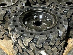 Solid Flex Skid Steer Tires/wheels for Bobcat S70 New 2357012S70