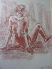 27.Étude de femme nue. Dessin au pastel (fond Artiste Vershaeve) 50x38