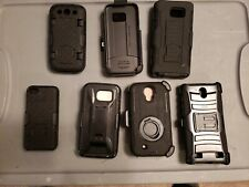 (7-pack Lot)(mixed sizes)Cellphone cases & Belt Plastic Clips.galaxy & iphone!