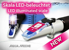 Aqua Medic refractometer LED beleuchtete Skala zur Bestimmung des Salzgehaltes