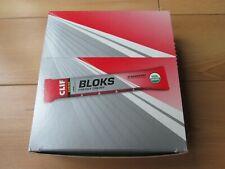 Organic Clif Shot Bloks, Carbs,Strawberry 60g x 18 Box,Natural Sports Energy