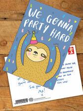 Brainbox Candy 'Party Hard' Postcard Funny Comedy Humour Novelty Cheeky Joke