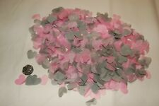 Pink & Grey Biodegradable Wedding Confetti - Hand made in the UK - Cones? FUN