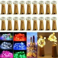 15-50 LED Wine Bottle Cork Fairy Lights Warm Cool White Multi-Color Xmas / Party