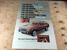 """1981 1982 1983 AMC Eagle NOS dealer showroom large poster sign 37"""" X 24'"""