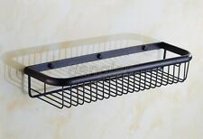 Black Oil Rubbed Brass Bath Wall Mounted Shower Storage Shelving Rack 8ba064