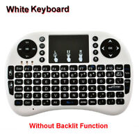 Teclado remoto recargable Mini Touchpad inalámbrico PC Android Smart TV 2.4GHz