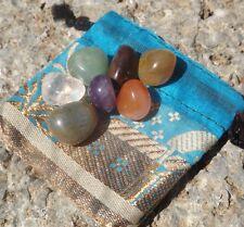 7 piedras Chakra Mini Secadora Con Mini Bolsa ~ Chakra Curación Meditación, etc.