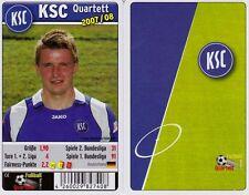 Karlsruher SC KSC Quartett Kartenspiel 2007/2008 Karten Fußball Neu OVP
