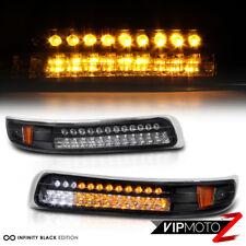 [COOL] 99-02 Silverado | 00-06 Suburban Tahoe Black Amber LED Bumper Lights Lamp